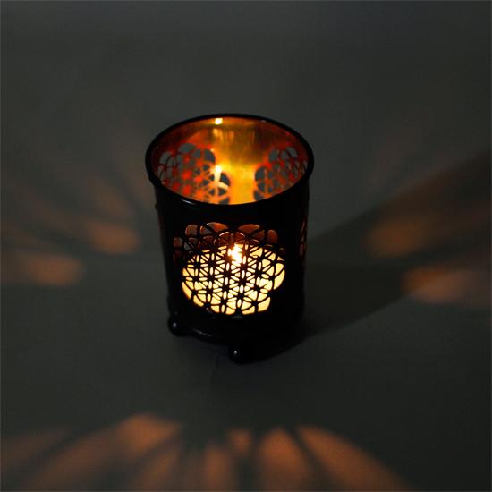 Teelichthalter - Blume des Lebens